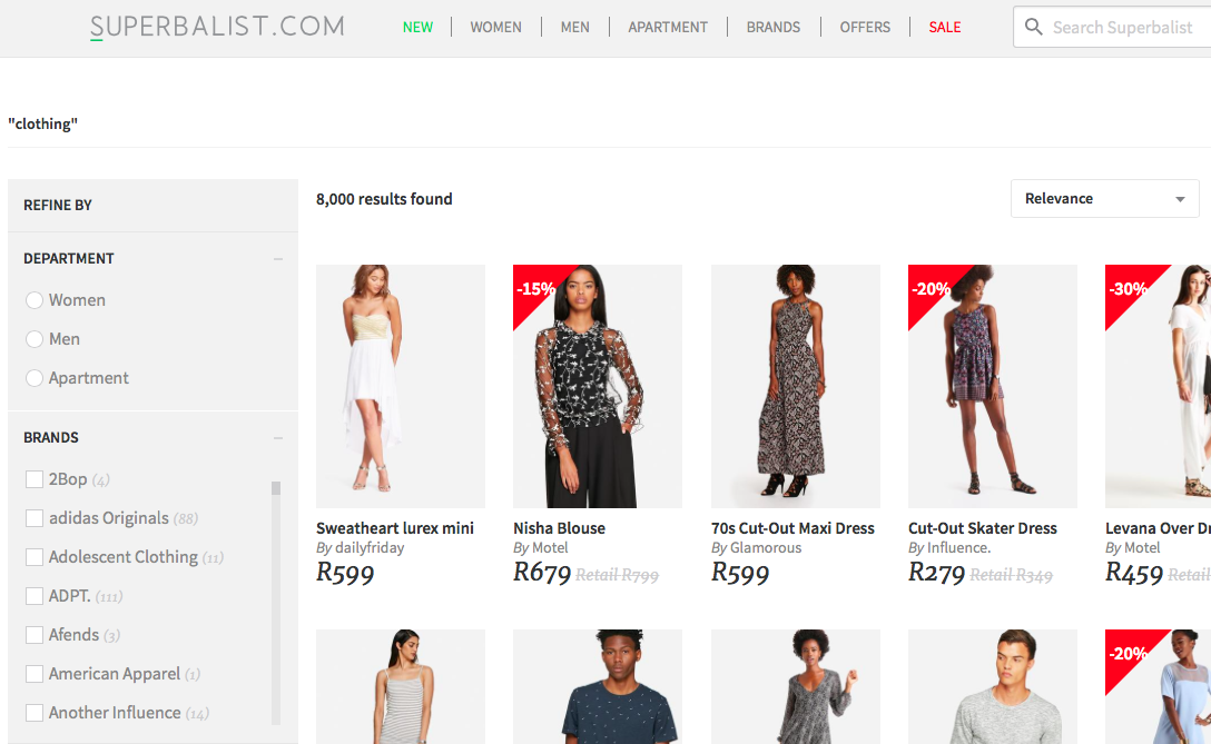 Shop online clothing south africa