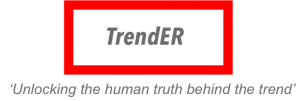 TrendER logo with slogan